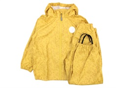 Wheat rainwear Charlie pants and jacket yellow flowers