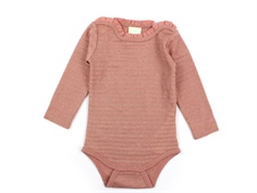 En Fant body rose dawn glitter stripes