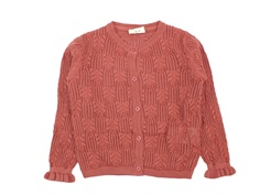 En Fant knit cardigan canyon rose