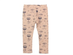 En Fant leggings mahogany rose with animal print