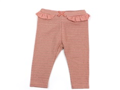 En Fant leggings rose dawn glitter stripes