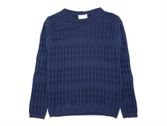 En Fant knit sweater navy