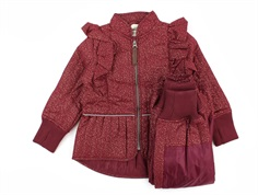 En Fant thermal pants and jacket cordovan glitter with frill
