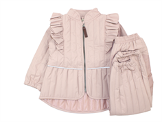 En Fant thermal jacket and pants adobe rose ruffle