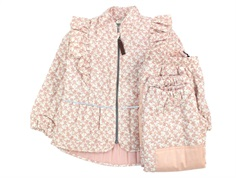 En Fant thermal pants and jacket pink champagne with flowers and frill