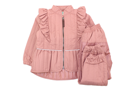 En Fant thermal set with ruffles old rose