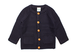 FUB cardigan/baby jacket navy wool