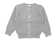 FUB cardigan points elle light gray wool