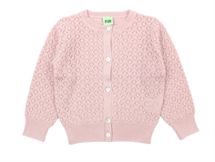 FUB cardigan points elle rose wool
