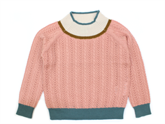 FUB knit blouse blush cable wool