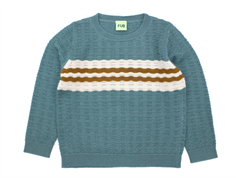 FUB knit blouse ocean points elle wool