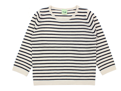 FUB knit sweater stripes ecru/navy