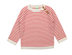 FUB sweater ecru/red wool