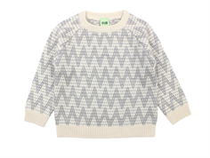 FUB sweater zigzag ecru/light gray wool