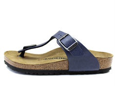 Birkenstock Gizeh pull up navy with buckle (30-34)