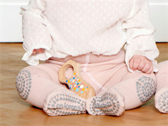 GoBabyGo crawling tights soft pink glitter