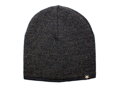 Huttelihut beanie dark grey gold