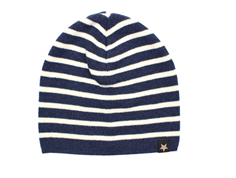 Huttelihut Hiphop cap navy/off-white stripe