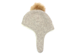 Huttelihut Scooter hat camel with fur tassel