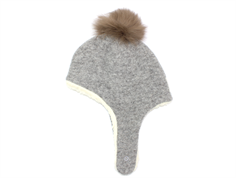 Huttelihut Scooter hat light gray with fur tassel