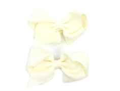 Huttelihut hair clips with bow off white large (2-Pack)
