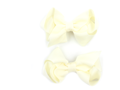 Huttelihut hair clips with bow off white medium (2-Pack)