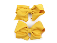Huttelihut hair clips with bow yellow large (2-Pack)