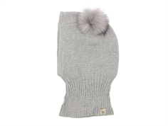 Huttelihut balaclava light gray with two tassels