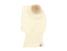 Huttelihut balaclava off-white with two tassels