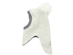 Huttelihut balaclava off-white with fur