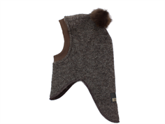 Huttelihut balaclava brown with fur