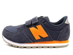 New Balance sneaker outerspace/desert gold with velcro