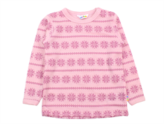 Joha blouse rose snowflake wool