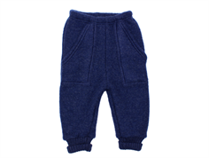 Joha baggy pants dark blue melange wool