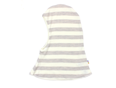 Joha balaclava balaclava stripe off-white/gray wool/silk