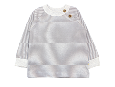 Joha blouse gray stripe cotton