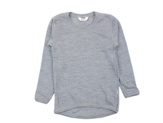 Joha blouse light gray melange wool