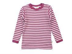 Joha blouse stripe plum wool/cotton