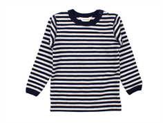 Joha blouse stripe navy wool/cotton