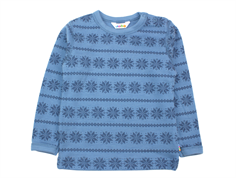 Joha blouse blue snowflake wool