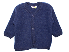 Joha cardigan dark blue melange wool