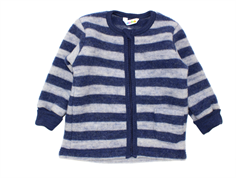 Joha cardigan stripe navy/gray wool