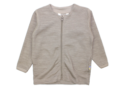 Joha cardigan sesame melange wool/cotton