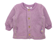 Joha cardigan square purple dots wool