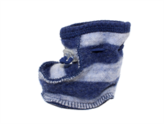 Joha slepping booties stripe navy/gray wool