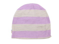 Joha hat stripe lavender/natural wool