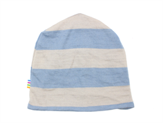 Joha hat stripe light gray/light blue wool