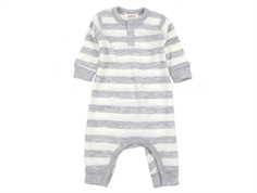 Joha jumpsuit gray/off-white stripes wool