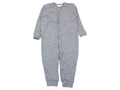 Joha jumpsuit light gray melange wool