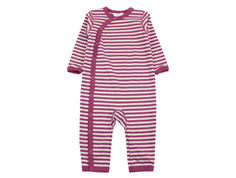 Joha jumpsuit stripe plum wool/cotton